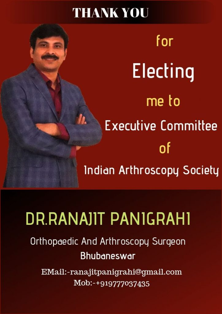 ELECTED TO EXECUTIVE COMMITTEE OF INDIAN ARTHROSCOPY SOCIETY